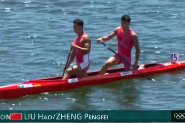 遗憾!中国皮划艇遭逆转,连续13年无缘奥运金牌,郑鹏飞刘浩夺银