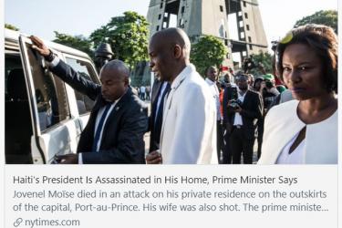 海地总统遇刺身亡前究竟发生了什么?