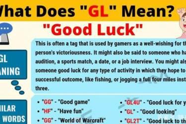 """老外经常写""""GL"""",那是什么意思?原来是""""good luck""""祝您好运"""